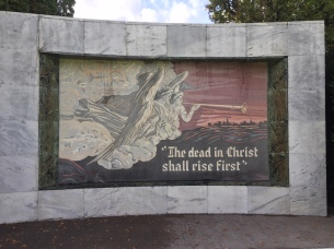 The dead in Christ plaque