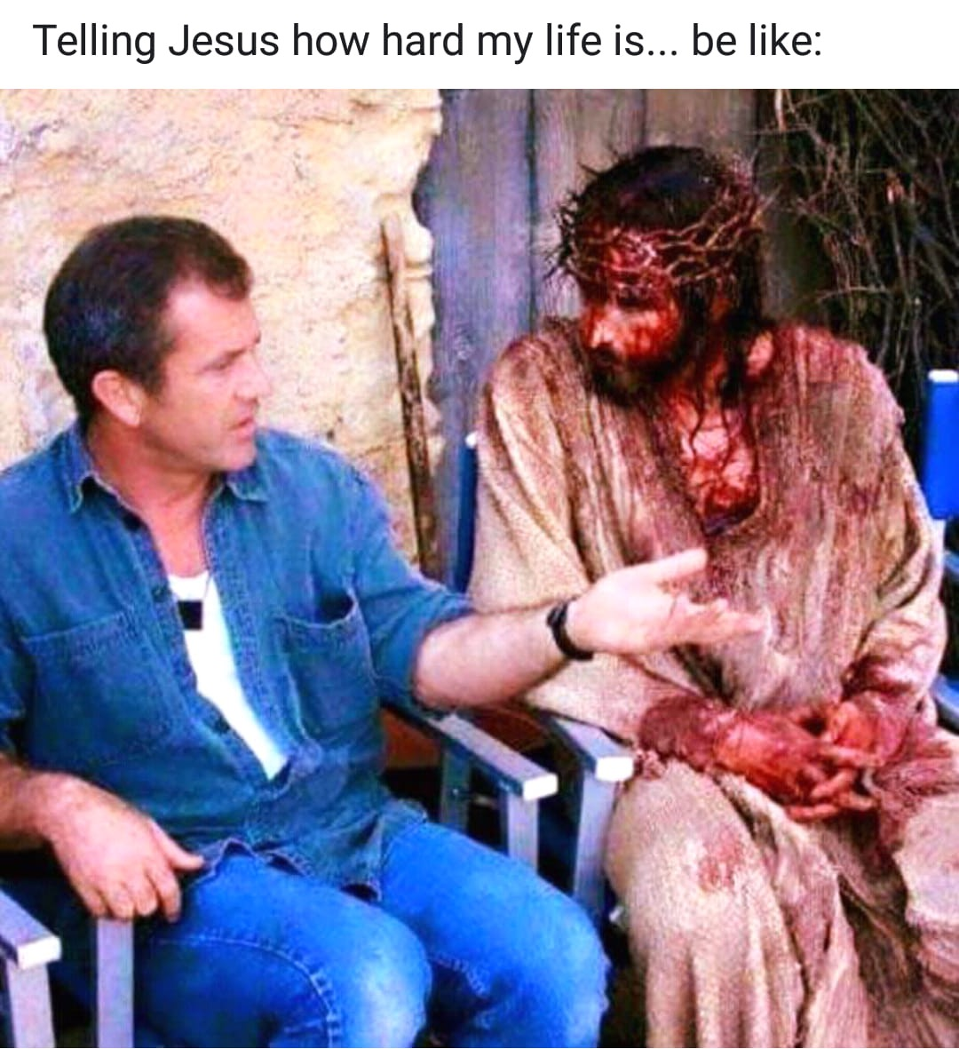 Photo telling of suffering to Jesus Facebook posted