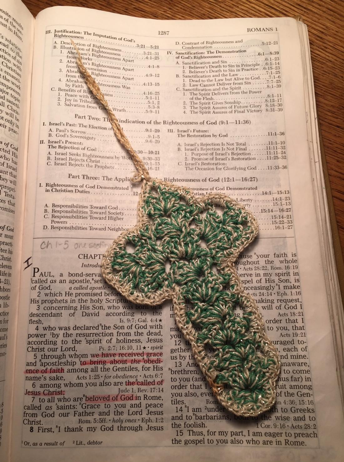Crocheted Cross made by my grandma 2020-0327