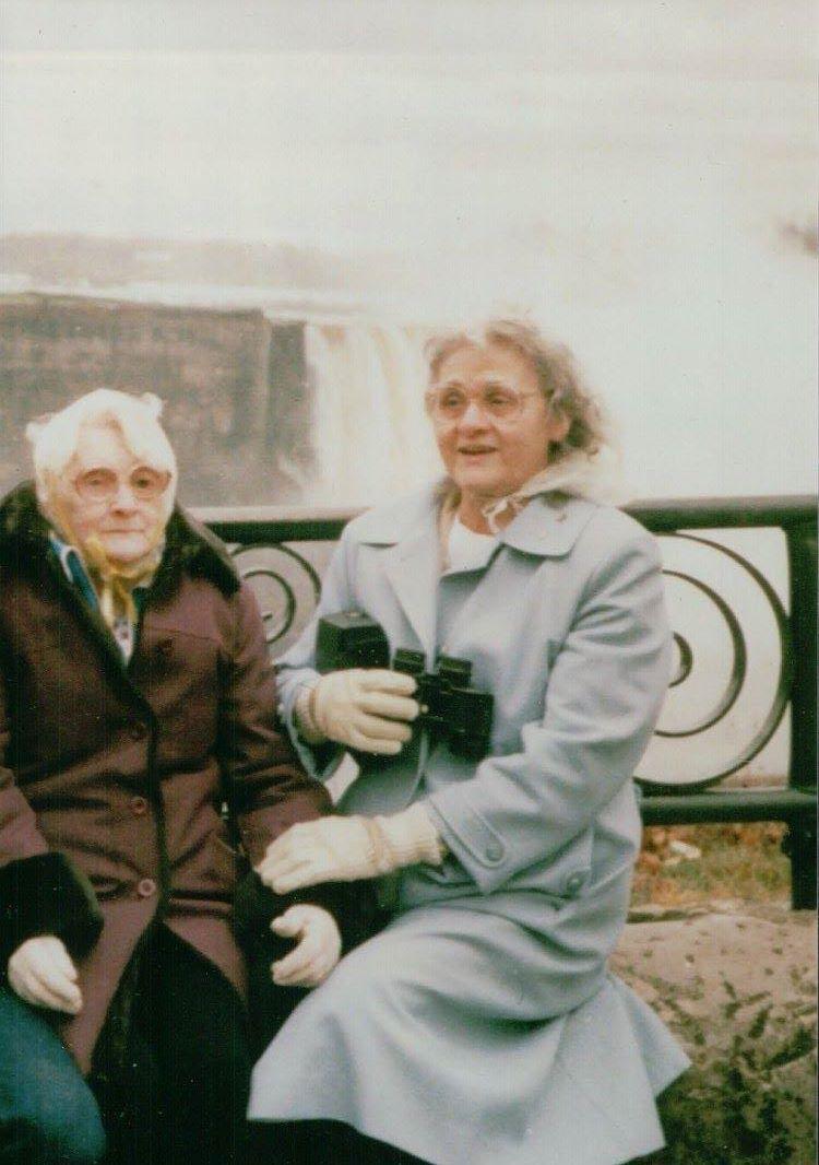 Mom with Grandma Sutliff at Multnomah Falls from Starlite